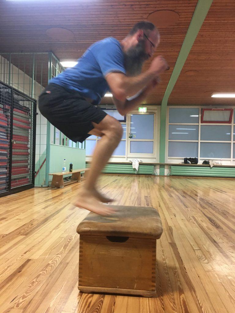 Box jumps for explosive leg strength